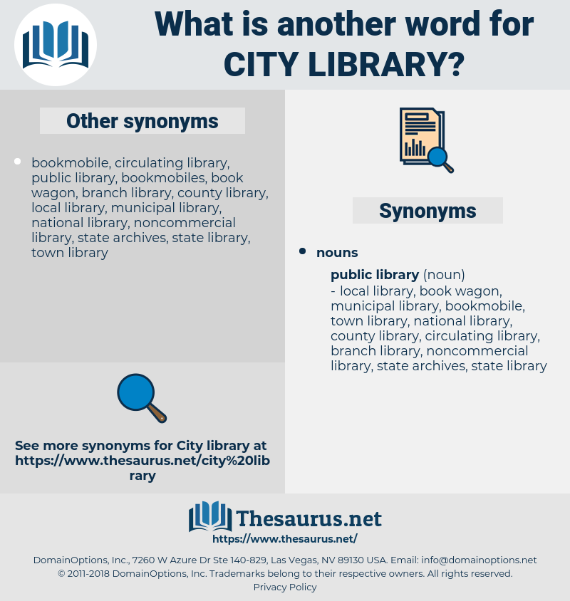 city library, synonym city library, another word for city library, words like city library, thesaurus city library