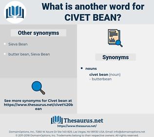 civet bean, synonym civet bean, another word for civet bean, words like civet bean, thesaurus civet bean