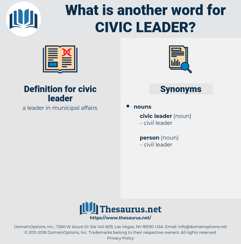 civic leader, synonym civic leader, another word for civic leader, words like civic leader, thesaurus civic leader