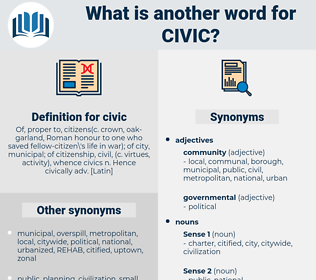 civic, synonym civic, another word for civic, words like civic, thesaurus civic