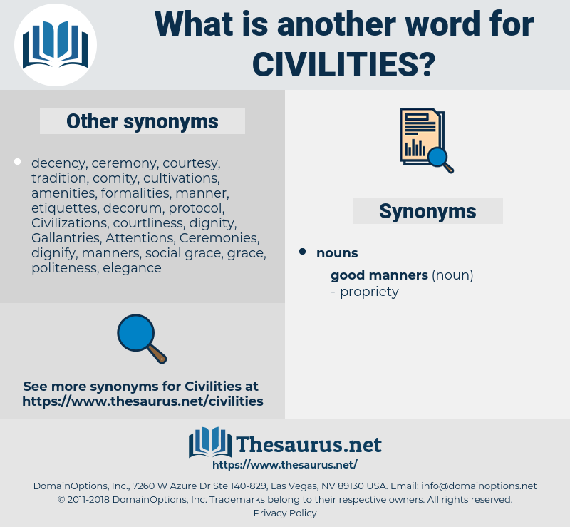 Civilities, synonym Civilities, another word for Civilities, words like Civilities, thesaurus Civilities