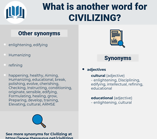 Civilizing, synonym Civilizing, another word for Civilizing, words like Civilizing, thesaurus Civilizing