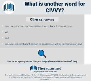 civvy, synonym civvy, another word for civvy, words like civvy, thesaurus civvy