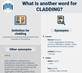 cladding, synonym cladding, another word for cladding, words like cladding, thesaurus cladding