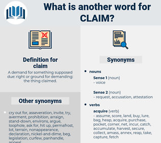 claim, synonym claim, another word for claim, words like claim, thesaurus claim