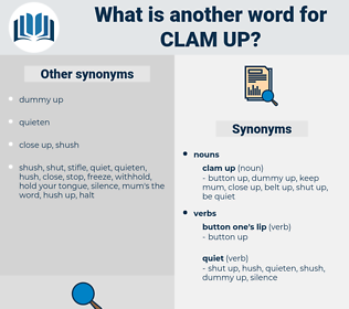 clam up, synonym clam up, another word for clam up, words like clam up, thesaurus clam up