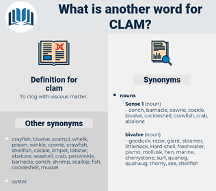 clam, synonym clam, another word for clam, words like clam, thesaurus clam