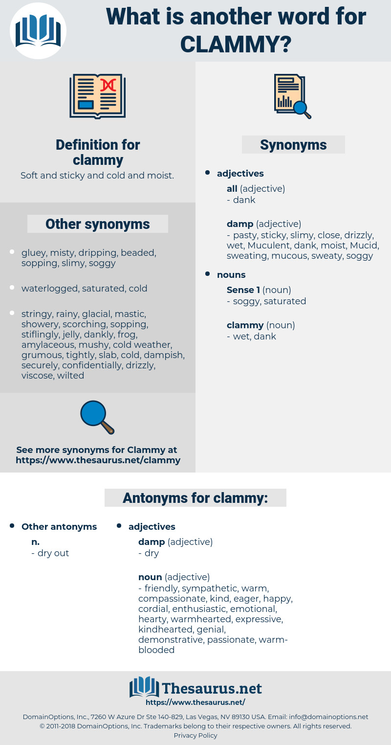 clammy, synonym clammy, another word for clammy, words like clammy, thesaurus clammy