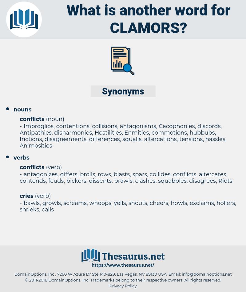 clamors, synonym clamors, another word for clamors, words like clamors, thesaurus clamors