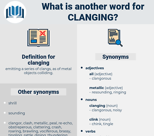 clanging, synonym clanging, another word for clanging, words like clanging, thesaurus clanging