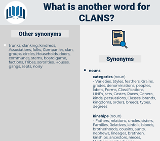 clans, synonym clans, another word for clans, words like clans, thesaurus clans