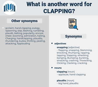 clapping, synonym clapping, another word for clapping, words like clapping, thesaurus clapping