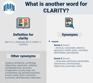 clarity, synonym clarity, another word for clarity, words like clarity, thesaurus clarity
