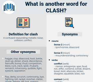 clash, synonym clash, another word for clash, words like clash, thesaurus clash