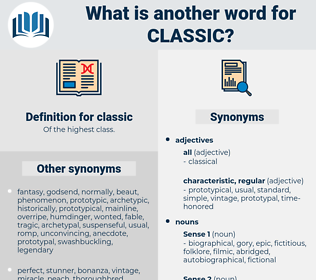 classic, synonym classic, another word for classic, words like classic, thesaurus classic