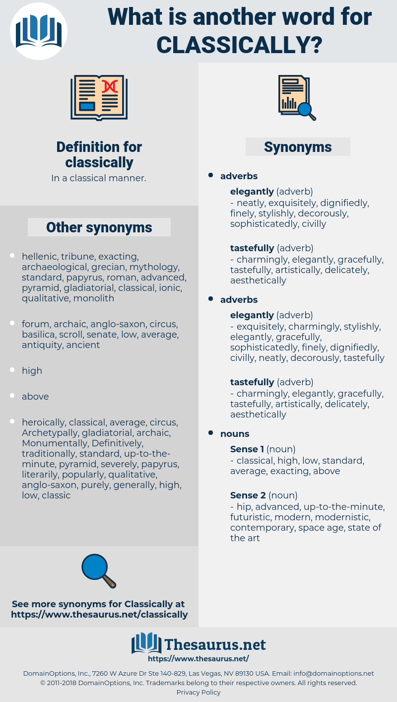 classically, synonym classically, another word for classically, words like classically, thesaurus classically