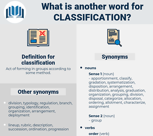 classification, synonym classification, another word for classification, words like classification, thesaurus classification