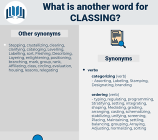 Classing, synonym Classing, another word for Classing, words like Classing, thesaurus Classing