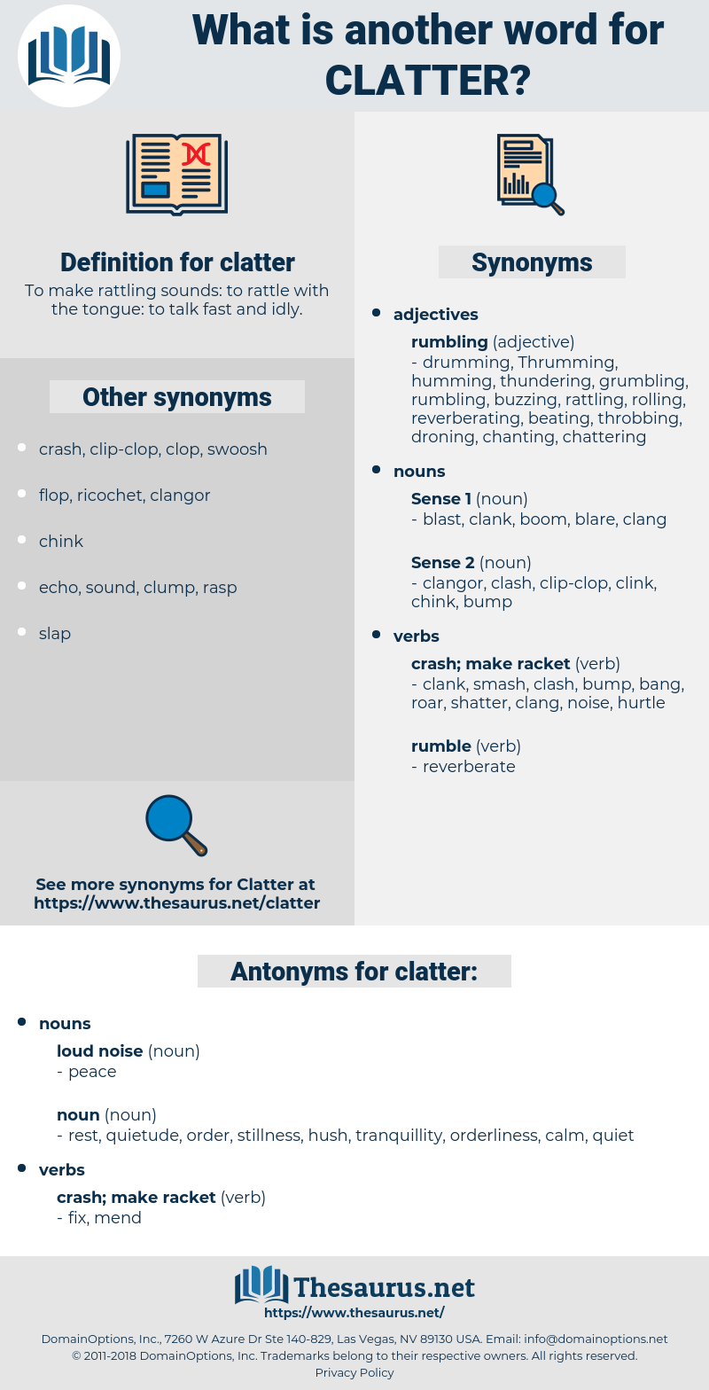clatter, synonym clatter, another word for clatter, words like clatter, thesaurus clatter