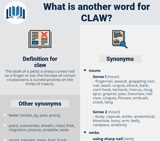 claw, synonym claw, another word for claw, words like claw, thesaurus claw