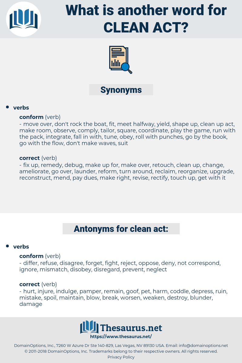 clean act, synonym clean act, another word for clean act, words like clean act, thesaurus clean act