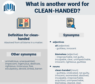 clean-handed, synonym clean-handed, another word for clean-handed, words like clean-handed, thesaurus clean-handed