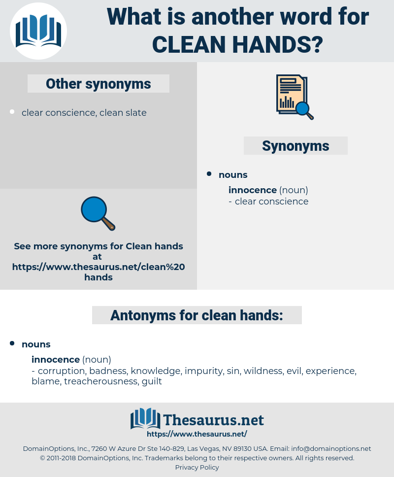 clean hands, synonym clean hands, another word for clean hands, words like clean hands, thesaurus clean hands