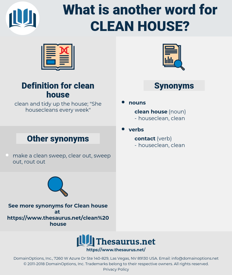 clean house, synonym clean house, another word for clean house, words like clean house, thesaurus clean house