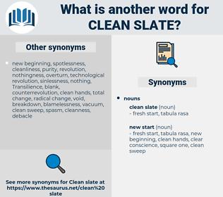 clean slate, synonym clean slate, another word for clean slate, words like clean slate, thesaurus clean slate