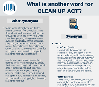 clean up act, synonym clean up act, another word for clean up act, words like clean up act, thesaurus clean up act