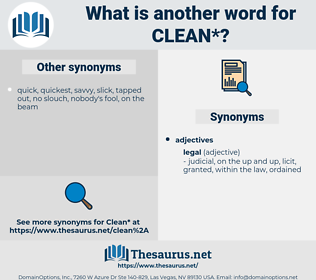 clean, synonym clean, another word for clean, words like clean, thesaurus clean