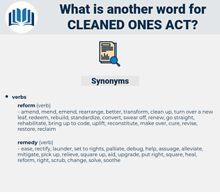 cleaned ones act, synonym cleaned ones act, another word for cleaned ones act, words like cleaned ones act, thesaurus cleaned ones act