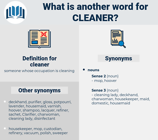 cleaner, synonym cleaner, another word for cleaner, words like cleaner, thesaurus cleaner
