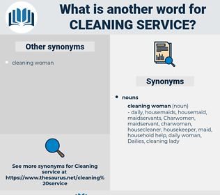 cleaning service, synonym cleaning service, another word for cleaning service, words like cleaning service, thesaurus cleaning service