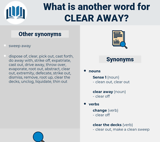 clear away, synonym clear away, another word for clear away, words like clear away, thesaurus clear away