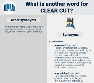 clear cut, synonym clear cut, another word for clear cut, words like clear cut, thesaurus clear cut