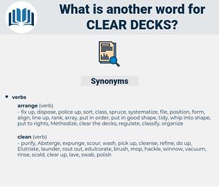 clear decks, synonym clear decks, another word for clear decks, words like clear decks, thesaurus clear decks