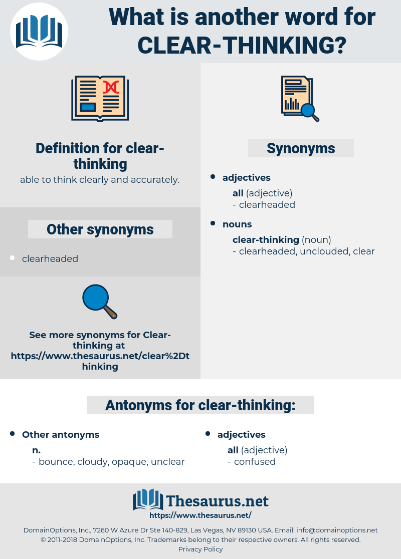 clear-thinking, synonym clear-thinking, another word for clear-thinking, words like clear-thinking, thesaurus clear-thinking