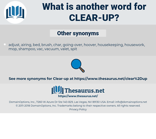 clear up, synonym clear up, another word for clear up, words like clear up, thesaurus clear up