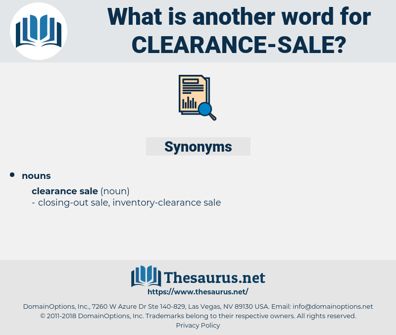 synonyms for clearance sale thesaurus net