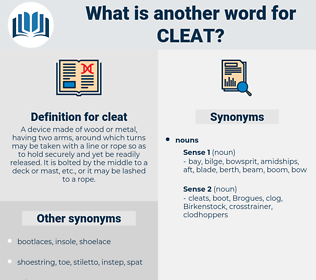 cleat, synonym cleat, another word for cleat, words like cleat, thesaurus cleat