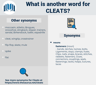 cleats, synonym cleats, another word for cleats, words like cleats, thesaurus cleats