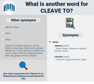 cleave to, synonym cleave to, another word for cleave to, words like cleave to, thesaurus cleave to