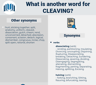 cleaving, synonym cleaving, another word for cleaving, words like cleaving, thesaurus cleaving