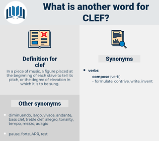 clef, synonym clef, another word for clef, words like clef, thesaurus clef