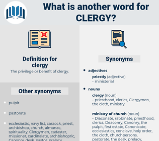 clergy, synonym clergy, another word for clergy, words like clergy, thesaurus clergy
