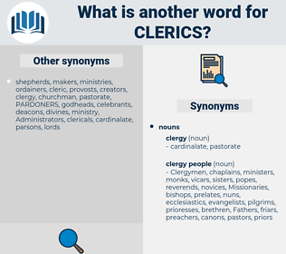 clerics, synonym clerics, another word for clerics, words like clerics, thesaurus clerics