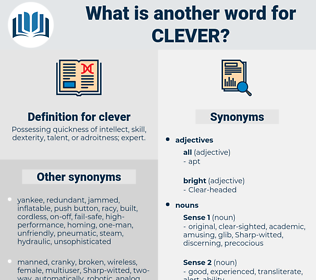 clever, synonym clever, another word for clever, words like clever, thesaurus clever