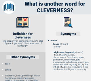 cleverness, synonym cleverness, another word for cleverness, words like cleverness, thesaurus cleverness
