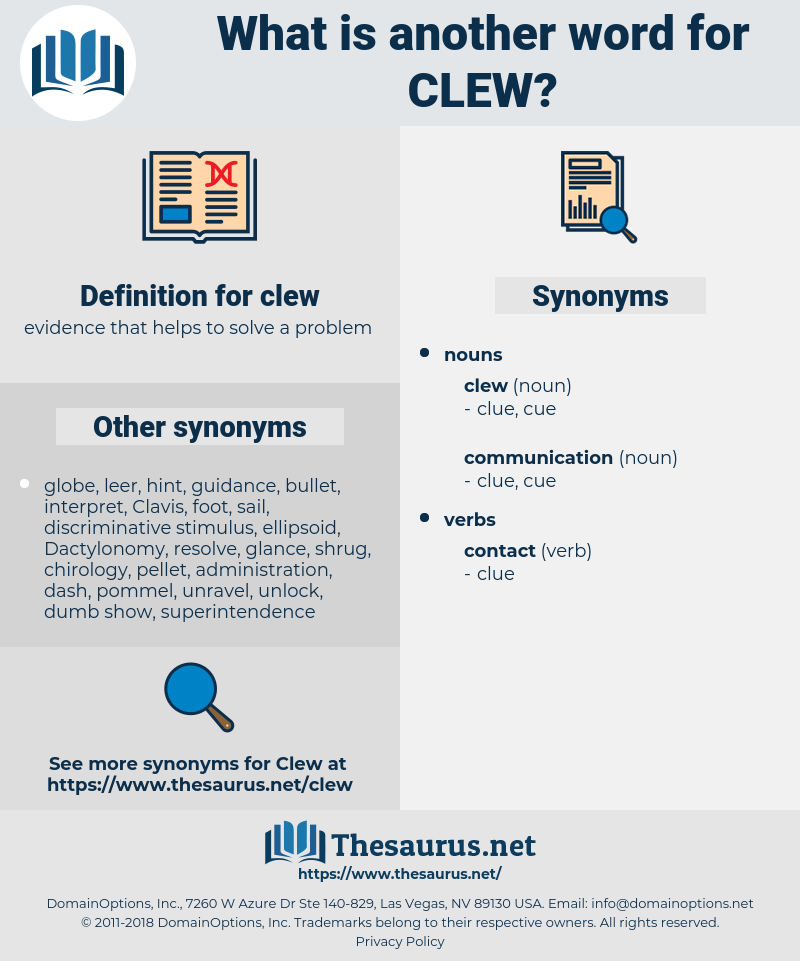 clew, synonym clew, another word for clew, words like clew, thesaurus clew